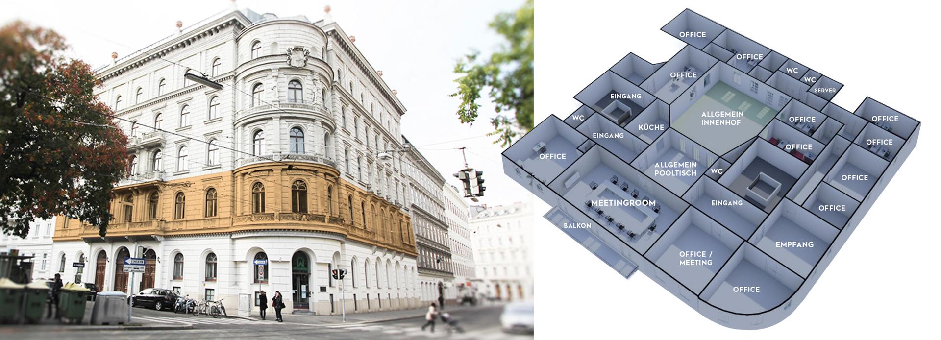 Palais Schlick: Repräsentative Büro-/ Ordinationsräume in zentraler Lage, Vienna