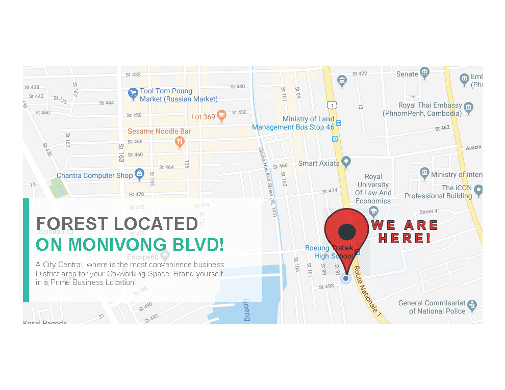 Forest Coworking Space, Phnom Penh - Read Reviews & Book Online