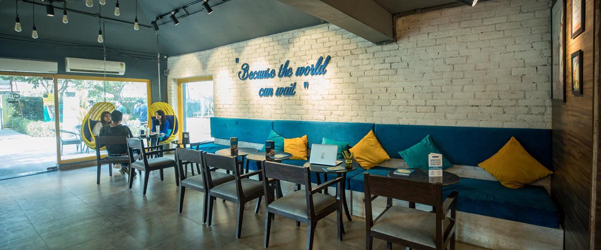 Coworking in Gurugram at Cafe L'Pause - myHQ, Gurugram