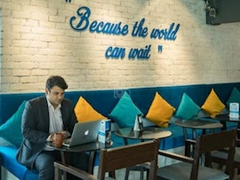 Coworking in Gurugram at Cafe L'Pause - myHQ, Gurugram