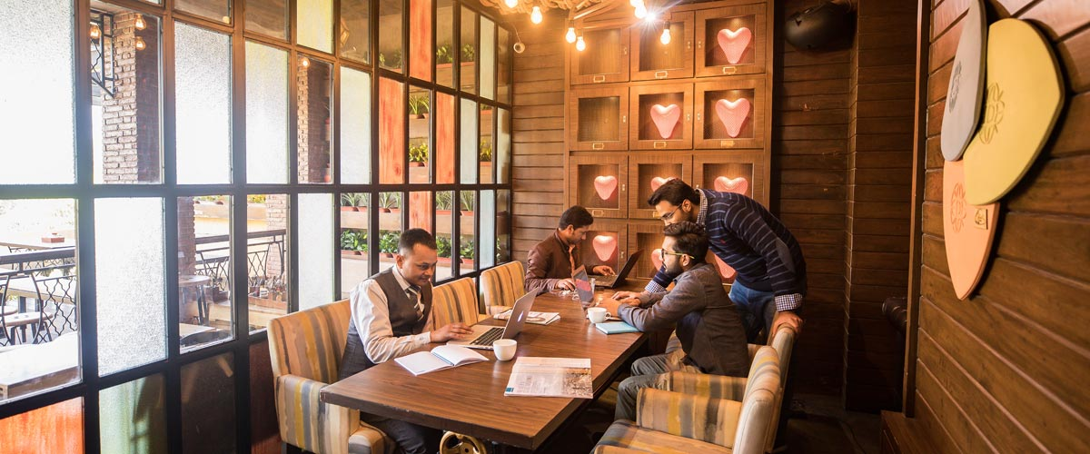 Coworking at The Darzi Bar Connaught Place - myHQ Workspaces, New Delhi