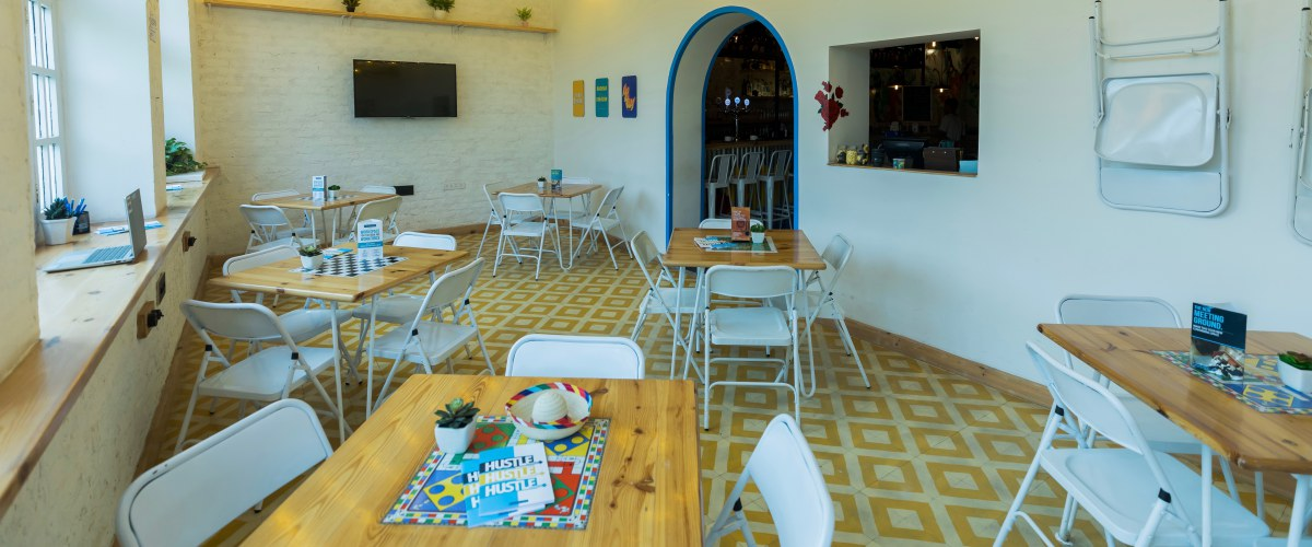myHQ coworking at Rodeo Cantina and Kitchen, New Delhi