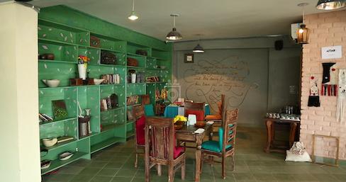 myHQ coworking cafe Hearken - Shahpur Jat, New Delhi   coworkspace.com