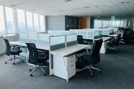 Office Space Fully Furnished for Rent AXA Tower Kuningan, Bekasi
